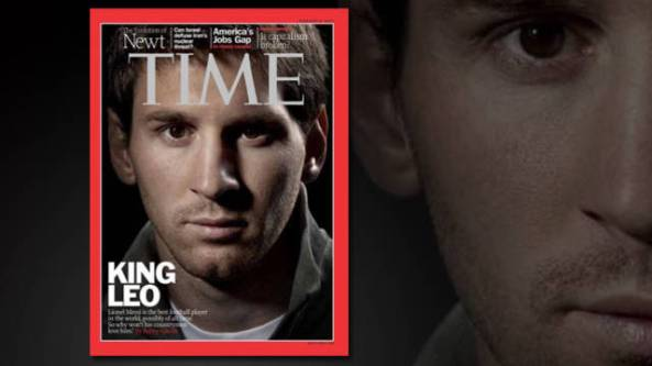 Lionel Messi on the cover of Time Magazine